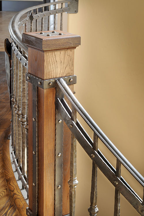 Interior railings stair railings heirloom stair iron for Interior iron railing designs