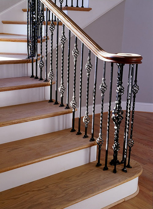 Interior railings stair railings heirloom stair iron - Interior stair railing contractors ...