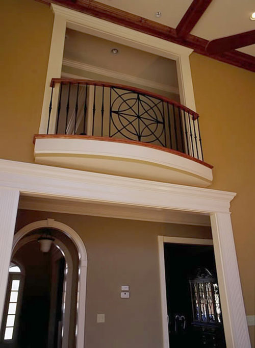 Ironwork and staircase portfolios the heirloom companies for Indoor balcony railing