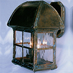 Abbey Lantern with Aged Smooth Copper