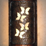Burl Sconce – Butterfly