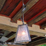 Three Sided GlowBox Pendant with Mica Shade