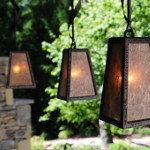 Four Sided GlowBox Pendant with Mica Shade