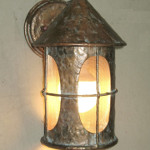 Cone-Turret Wall Sconce – Cross Grid