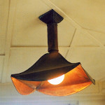 Canopy Pendant Light with Flared Scallop Edge