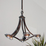 Twin Arm Candle Chandelier