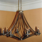 Twin Arm Electric Chandelier