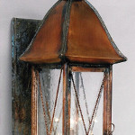 Walkway Lantern with Lower End Cap and Cross Grid